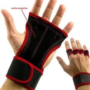 Gants de Street Workout Rouge et Noir Taille L