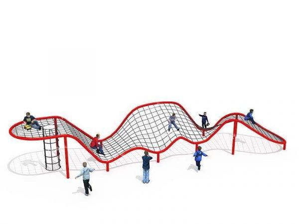 Grand equipement descalade de filet de corde pour enfants en plein air de Sky City